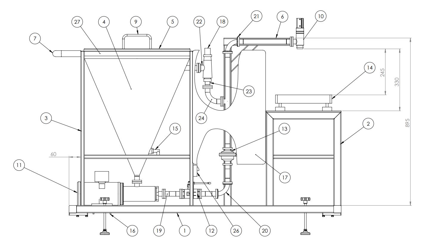 imagen POWDER DS plano DML dosificador para líquidos móvil